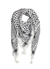 Oiginal Palestinian Shemagh keffiyeh, White And Black Color, كوفية فلسطينية