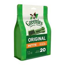 Greenies Original Petite Size 20 count 12 oz | Dental Chew Treats for Dogs