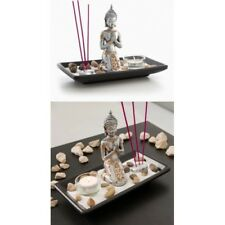 Kit decoración Buda con vela,barritas incienso,piedras,portavela,bandeja,etc