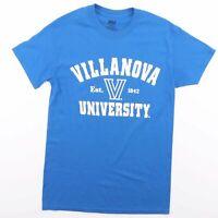 VILLANOVA UNIVERSITY Blue Big Logo USA T-Shirt Size Men's Small