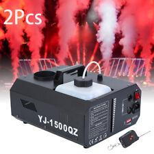 2X Nebelmaschine DMX 1500W Bühnenlicht Upspray Fogger Stage Fog Machine Wireless