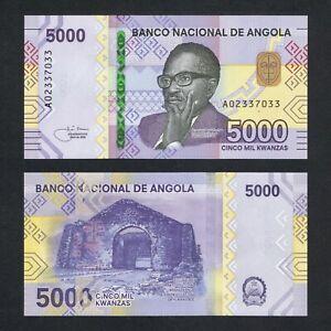 2021 ANGOLA 5,000 5000 KWANZAS P-NEW UNC>DR ANTONIO AGOSTINHO NETO KULUMBIMBI NR