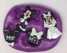 Disney Boda Mickey Mouse Minnie Mouse Molde de Silicona Molde/Novia Novio.