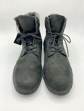 Timberland Mens Sz 13 Boots Black Classic 7 Eye Lace Up Waterproof Work