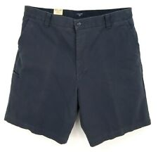 DOCKERS Shorts Mens Sz 38 Dark Blue 100% Cotton Relaxed Fit Chino Flat Front NWT