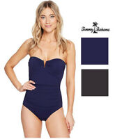 Tommy Bahama Womens Pearl V Front Bandeau One Piece Swimsuit