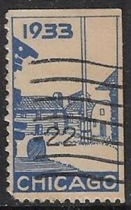 Rare USA 1933 Poster Stamp: Fort Dearborn, Chicago  - dw33