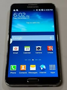 Samsung Galaxy Note 3, 32GB, Black, Locked T-Mobile, Good Condition :AA272
