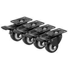 More details for 4 x heavy duty swivel castor wheels trolley 50mm furniture casters rubber 200kg