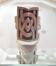 CORY STERLING SILVER CELTIC RING Triple Band 925 SIGNED 6