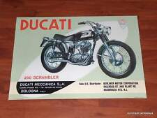 Ducati 250 Scrambler Single Poster BEAUTIFUL! bevel NEW