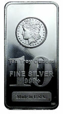 Morgan Dollar Design 10 Oz .999 Fine Silver Bar - MADE IN USA SKU27207