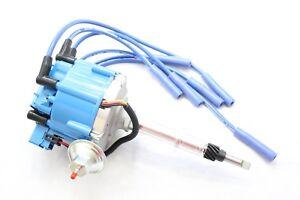 Blue HEI Distributor Coil 8.5mm Spark Plug Wires 1956-1974 AMC Jeep 232 258 L6