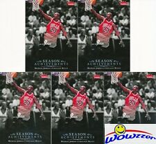 (5)2007/08 Upper Deck #SH45 Michael Jordan Season Achievements Chicago Bulls HOF