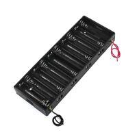 Plastic Shell Batteries Holder Box for 10 x 1.5V AA Battery C1G5
