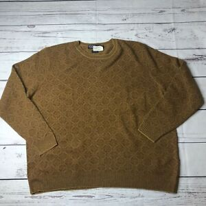 Polo Ralph Lauren Mens Size 3XB Big Brown Knit Sweater WOOL New Pullover