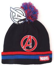 Marvel Avengers Assemble Boy's Youth-Adult Men's Pom Winter Hat ONE SIZE NWT