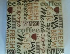 30 Cocktail Napkins 2 Ply party favor Coffee Starbucks Jave Espresso Cappuccino