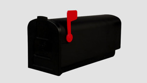 Gibraltar Deluxe Polybox Durable Plastic Post Mounted Black Mailbox PL10B0201