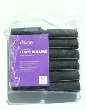 Fromm International Diane Foam Hair Rollers Curls Black 3/4-Inch 12/Bag