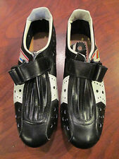VINTAGE OLD SCHOOL RETRO VITTORIA ROAD TRACK CYCLING SHOES WITH CLEATS SIZE 38.5