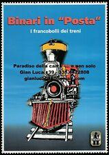 "BINARI IN ""POSTA"", I FRANCOBOLLI DEI TRENI (Vilmy Montanari - 2004 -"