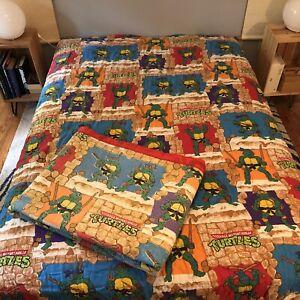 Vintage 1988 Teenage Mutant Ninja Turtles TMNT Comforter Blanket Twin Or Full