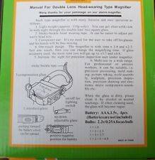 ILLUMINATED MAGNIFIER, HEAD. CRAFTS.  ELECTRONICS, HOBBY, CARD MAKING,  READING