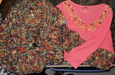 Free People LOT of 2 Women Large Sweaters (LOT LCM 19)