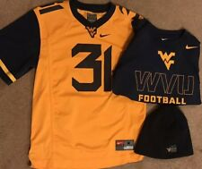 84218e6aecc Lot Of NIKE West Virginia Mountaineers Youth Jersey   L S Dri-Fit Shirt