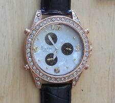 Stunning Franklin Quartz Style Watch With Mother Of Pearl Inlay & Rhinestones