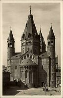 Mainz alte Ansichtskarte ~1930/40 Blick auf den Dom vom Liebfrauenplatz gesehen