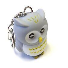 "JustforMoo ""Grey Owl"" Light & Sound Keyring"