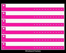 25 x Neon Pink Vinyl Party Function Event Rave Security Pool Function Wristbands