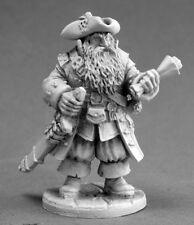 Barnabus Pirate Captain Reaper Miniatures Dark Heaven Legends Melee Sword Map