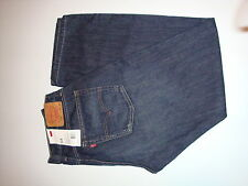 LEVI'S 514 RELAXED STRAIGHT JEANS Dark Blue 32X30 NEW