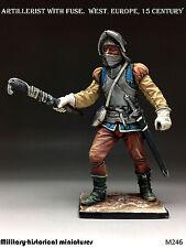 Artillerist Tin toy soldier 54 mm, figurine, metal sculpture HAND PAINTED