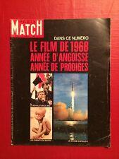 Paris Match du 4 Janv 1969 / Film de l'année 68 Revolution de Mai Apollo 8