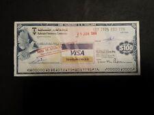 TRAVELERS CHEQUE DA 100 DOLLARI