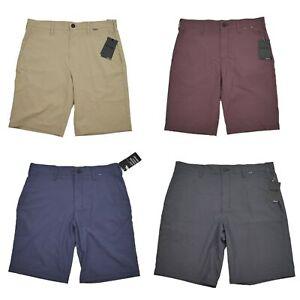 "Hurley Nike Men's Dri-Fit Chino 21"" Walk Shorts Sizes 30-42 Beige Tan Gray Red"