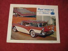 1957 Buick Station Wagon roof rack Salesman Brochure Original Booklet Old