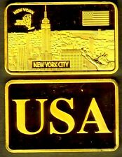★★★★★ JOLI MEDAILLE PLAQUéE OR ● USA ● NEW YORK ★★★★★