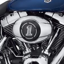 Harley No.1 Dark Custom Air Cleaner Trim Cover  99 Up FLH FXST FLST FXD 61300057