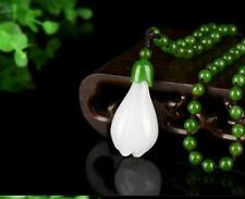 Chinese Natural White Color Jade Hand-carved Harmony Lucky Pendant China