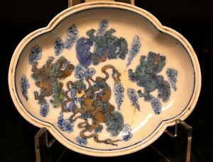 A Chinese Porcelain Doucai Brush Washer, Early 20th Century