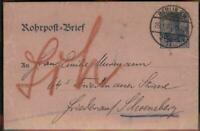 Germany Empire Germania Berlin Rohrpost Pneumatic Mail Stationery Cover 96432