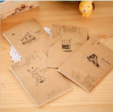 6PC Portable Mini Notepad Hand Pocket Memo Small cute Retro Notebooks Stationery
