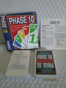 Phase 10 Card Game Fundex 1992 Ages 8+ 2 Decks of Cards Sealed