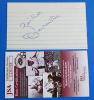 ZOILO VERSALLES SIGNED 3x5 INDEX CARD ~ 1965 AL MVP - TWINS ~ JSA CC01358