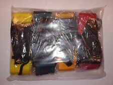 (Pack of 4) On Stage - Guitar Strap (1 each of = Yellow, Green, Orange and Red)